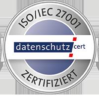 DIN ISO 27001 zertifiziert